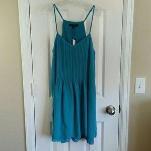 Sanctuary Blue Pintuck Midi Spring Fling Dress